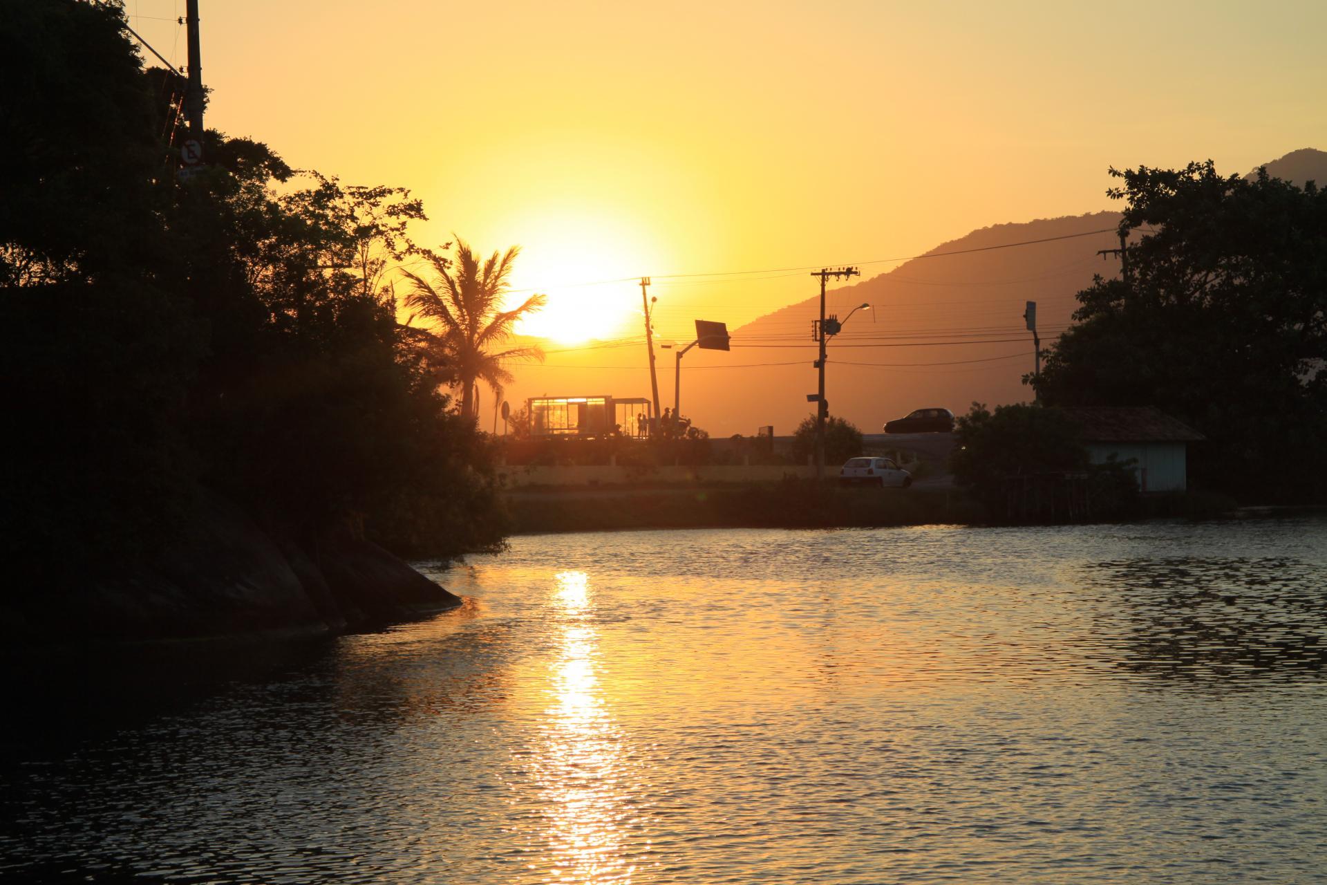 Sonnenuntergang in Florianopolis