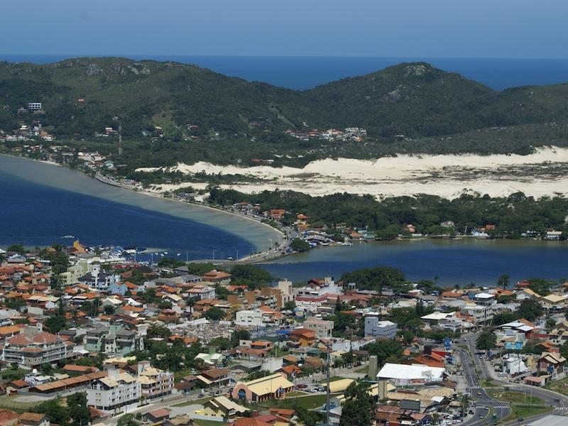 Blick auf die Lagoa da Conceição in Florianopolis