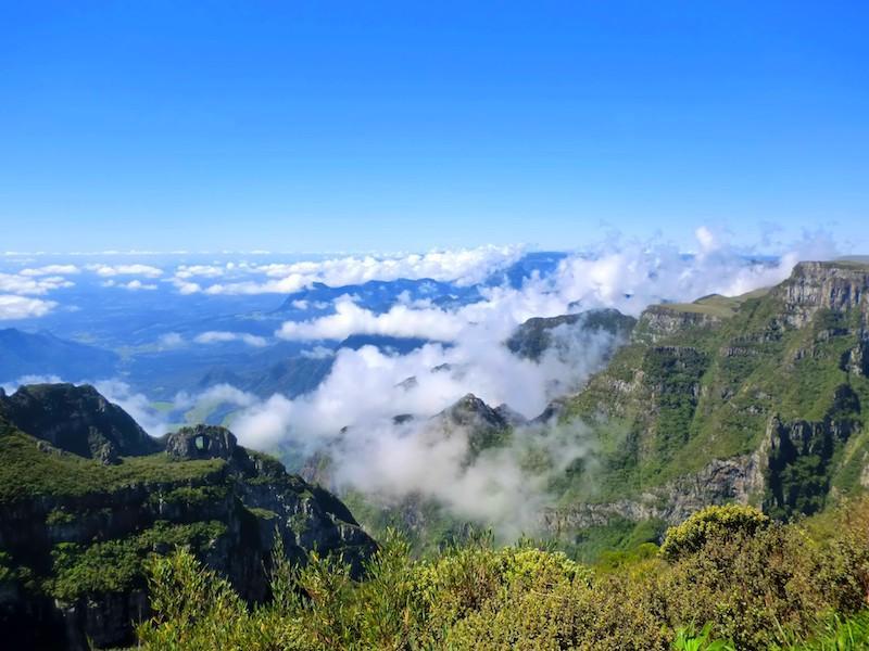 Blick auf die Canyon Landschaft der Serra Catarinense