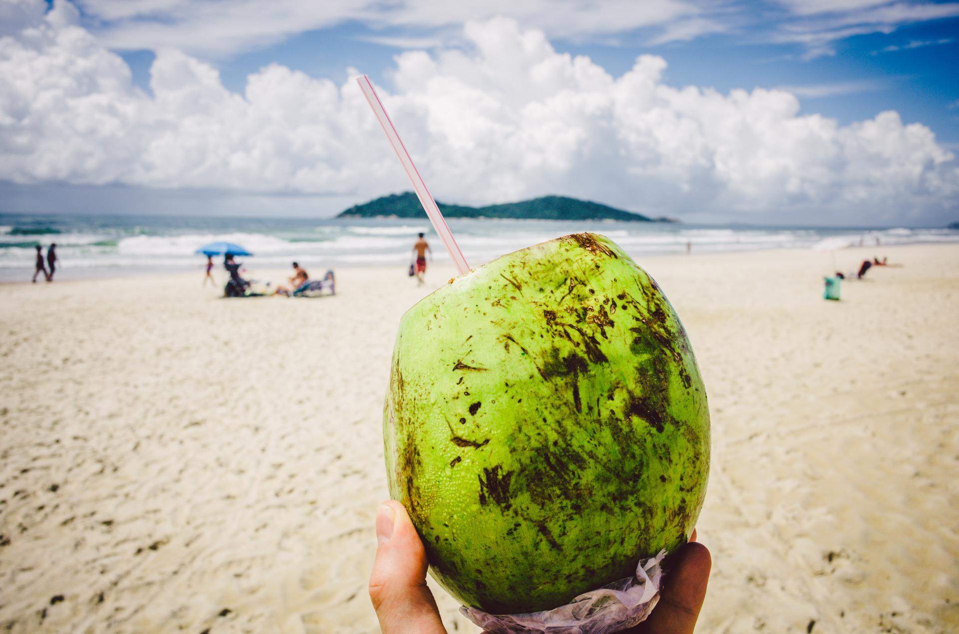 Blick auf den Strand von Campeche in Florianopolis