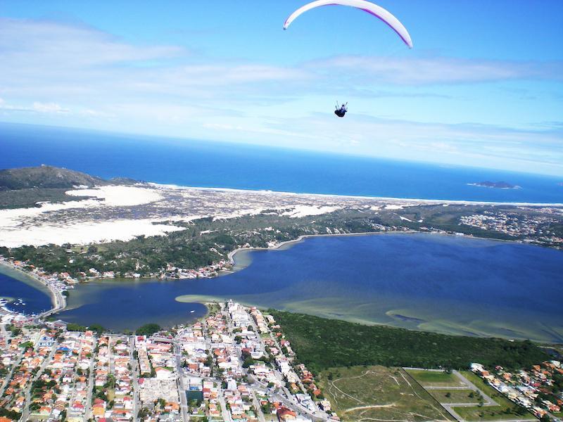 Paragliding am Mole Strand