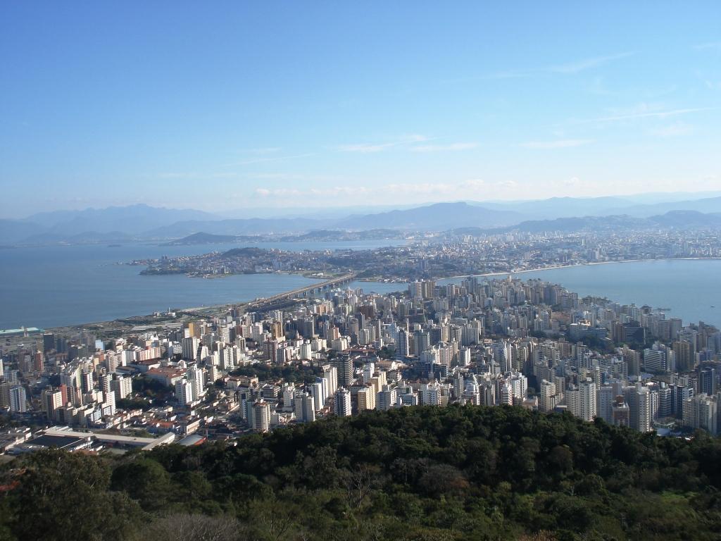 Ausblick auf Florianopolis