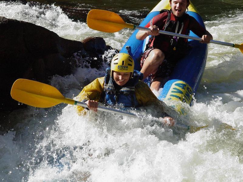 Kajakexpedition auf dem Fluss